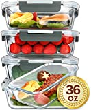 [5-Packs, 36 Oz.] Glass Meal Prep Containers with Lifetime Lasting...