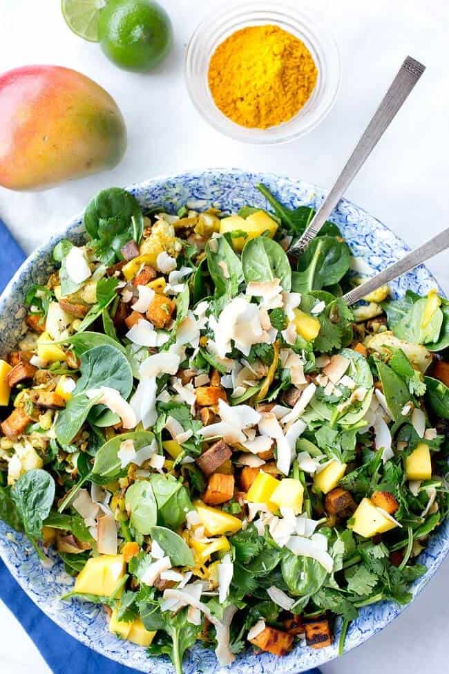 Mango Curried Sweet Potato Salad Loveleaf Co