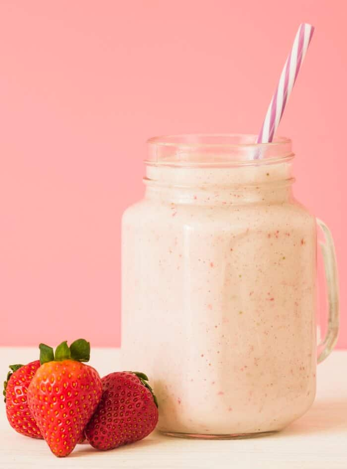 Strawberry Banana And Peach Smootie