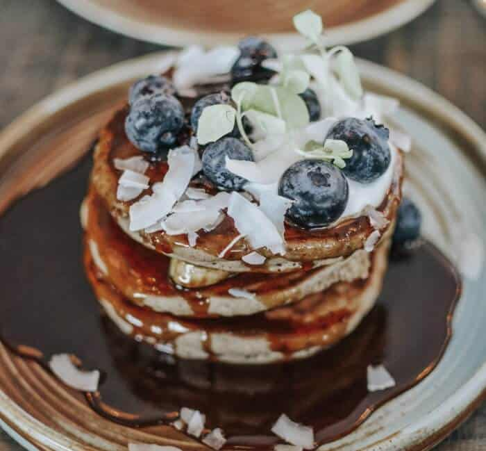 Nutritious Coconut, Chia Seeds, And Yogurt Pancakes